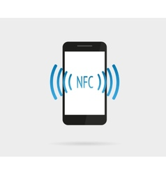 Smartphone with nfc function vector image