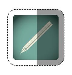 sticker color square with pencil icon vector image