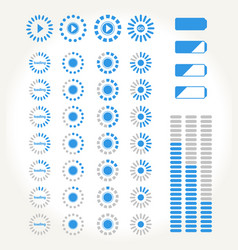 streaming icons vector image