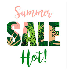 Summer sale design template vector