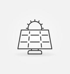 Sun and solar panel icon vector