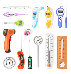 Thermometer tempering measurement celsius vector