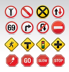Traffic and other icon signs vector