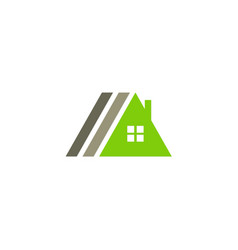 Triangle house roof company logo vector