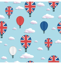 uk hot air balloon pattern vector image
