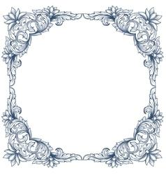 Vintage victorian floral frame vector image