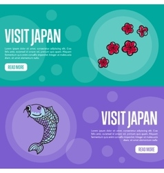 Visit Japan Travel Company Landing Page Template vector image