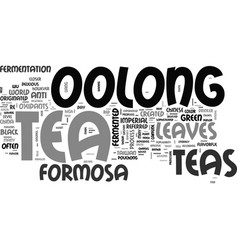 What is imperial formosa oolong tea text word vector