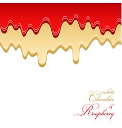 white chocolate and raspberry jam seamless pattern vector image