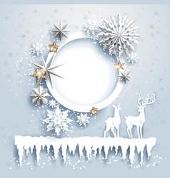 winter design with deers vector image