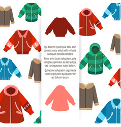 winter jackets poster vector image