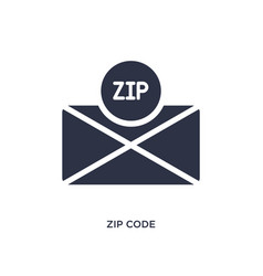 Zip code icon on white background simple element vector