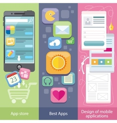 Concept of Mobile Application Store vector image vector image
