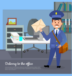 delivery to the office web banner world transfer vector image vector image