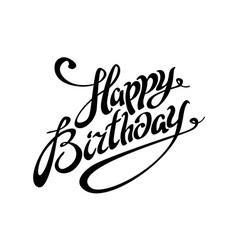 Happy Birthday lettering calligraphy card vector image