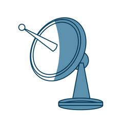 Radar dish antenna for broadcast electronic vector