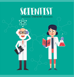 scientist character vector image vector image