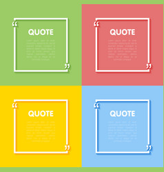 set of frames for quotes vector image