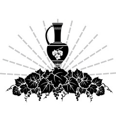 vine symbol vector image vector image
