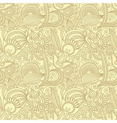hand draw ornate seamless pattern background vector image vector image