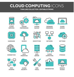 cloud omputing internet technology online vector image