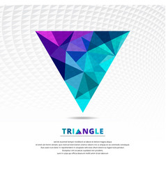 green blue and purple color abstract low poly vector image vector image