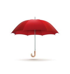 Red umbrella isolated EPS 10 vector image vector image