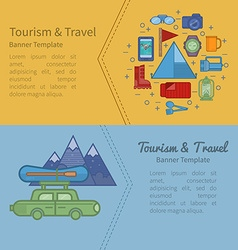 Tourism banner vector image