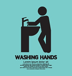 Washing hands black graphic symbol vector