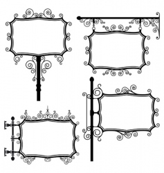 wrought iron signs vector image vector image