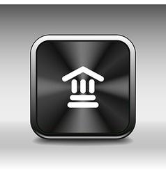bank icon isolated sign symbol building vector image