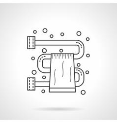 Bathroom dryer flat line design icon vector image