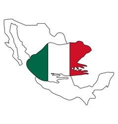 Bullfrog Mexico vector image