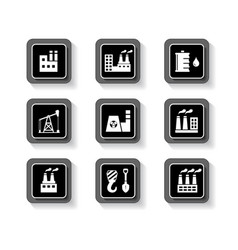 industrial buttons set vector image vector image