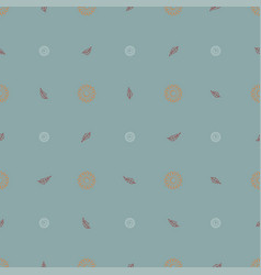 seamless pattern of orange daisies and red leaves vector image