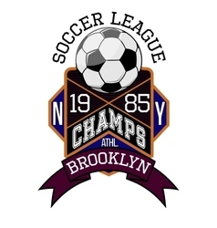 Soccer League New York Champs Brooklyn T-shirt vector image vector image