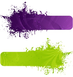 two color banners vector image vector image