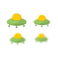 UFO Flying saucer Transport strangers Aliens UFO vector image