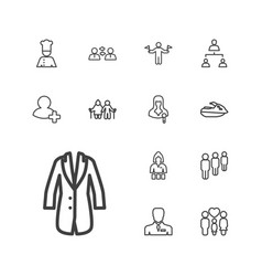 13 person icons vector
