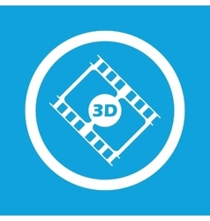 3D movie sign icon vector image