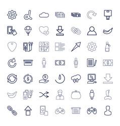 49 app icons vector