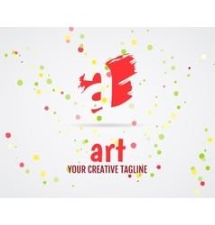 Abstract art logo design Art studio Art vector