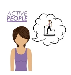 Active People design vector image