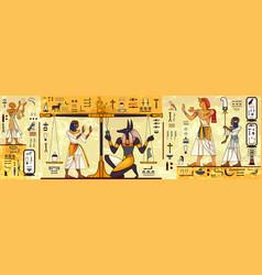 Ancient egypt backgroundanubispharaoh vector