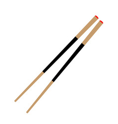 asian wooden chopstick isolated vector image