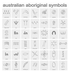 australian aboriginal symbols vector image