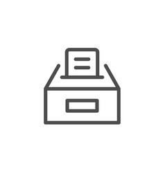 ballot box line icon vector image