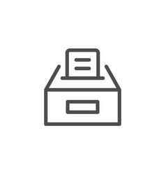 Ballot box line icon vector