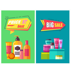 best price promotion posters vector image