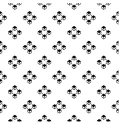 block chain concept seamless pattern vector image